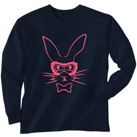 Field Hockey Tshirt Long Sleeve Hopster Field Hockey Bunny