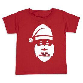 Baseball Toddler Short Sleeve Tee - Ho Ho Homerun