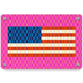 Cheerleading Metal Wall Art Panel - American Flag Mosaic