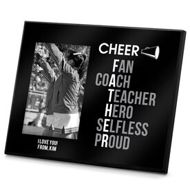 Cheerleading Photo Frame Cheer Father Words