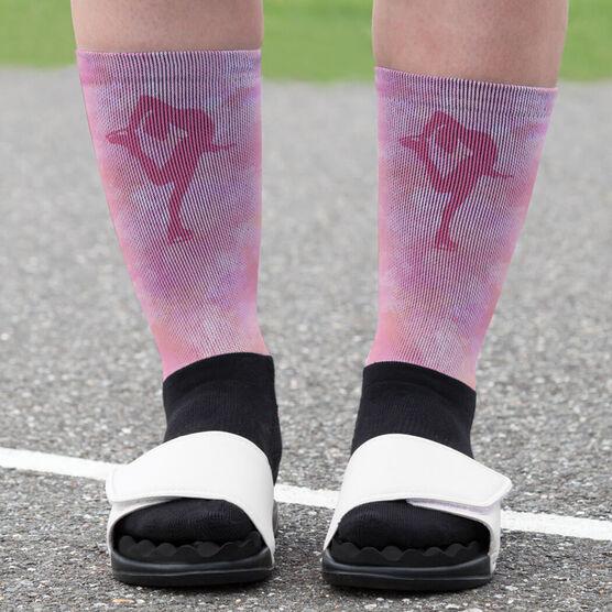 Figure Skating Printed Mid-Calf Socks - Figure Skater