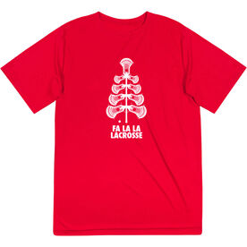 Guys Lacrosse Short Sleeve Performance Tee - Fa La La Tree