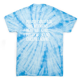 Cheerleading Short Sleeve T-Shirt - All Weekend Cheerleading Tie Dye