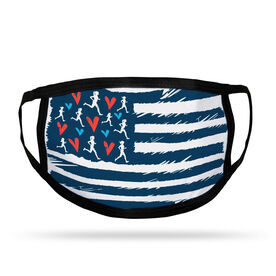 Running Adult Face Mask - United States of Runners