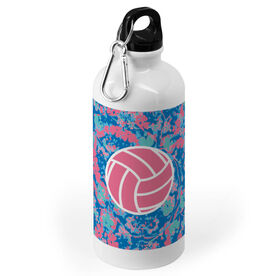 Volleyball 20 oz. Stainless Steel Water Bottle - Floral