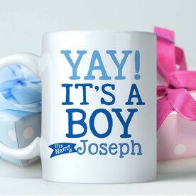 Yay! It's A Boy Personalized Mug