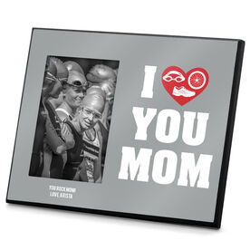 Triathlon Photo Frame I Heart You Mom TRI