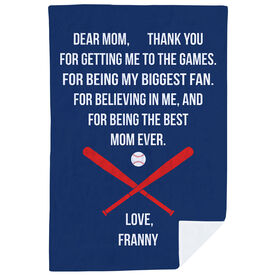 Baseball Premium Blanket - Dear Mom Heart