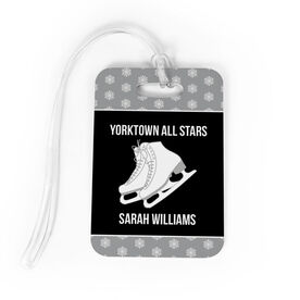 Figure Skating Bag/Luggage Tag - Personalized Figure Skating Team with Skates