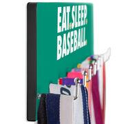 Baseball Hooked on Medals Hanger - Eat Sleep Baseball