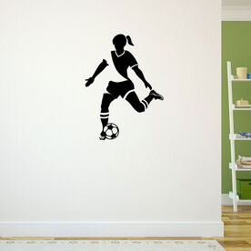 Soccer Girl Player Removable ChalkTalkGraphix Wall Decal