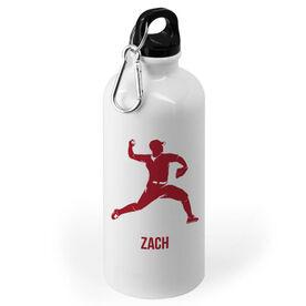 Baseball 20 oz. Stainless Steel Water Bottle - Baseball Pitcher Silhouette
