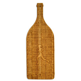Wine Bottle Laser Engraved Bamboo Cutting Board Female Inspiration