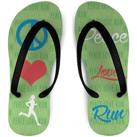 Running Flip Flops Peace Love Run