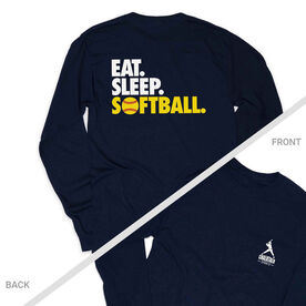 Softball Tshirt Long Sleeve - Eat. Sleep. Softball (Logo Collection)