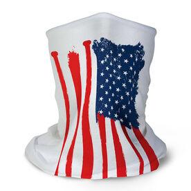 Baseball Multifunctional Headwear - American Flag Bats RokBAND