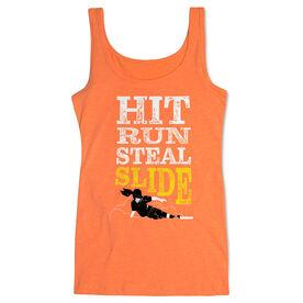Softball Women's Athletic Tank Top - Hit Run Steal Slide