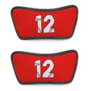 Baseball Repwell® Sandal Straps - Baseball Number Stitches
