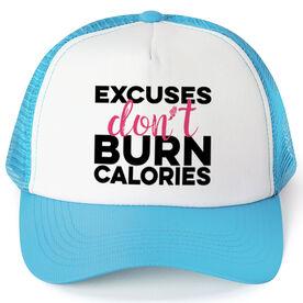 Running Trucker Hat - Excuses Don't Burn Calories