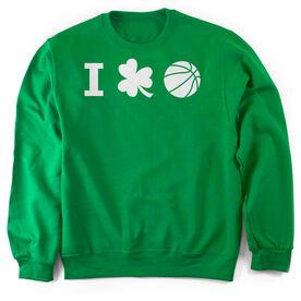 Basketball Crew Neck Sweatshirt - I Shamrock Basketball