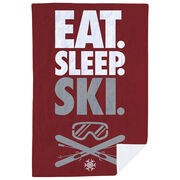 Skiing Premium Blanket - Eat. Sleep. Ski. Vertical