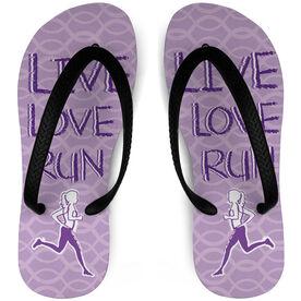 Running Flip Flops Live Love Run (Sketchy)