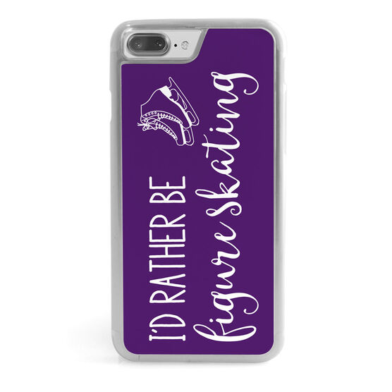 Figure Skating iPhone® Case - I'd Rather Be Figure Skating