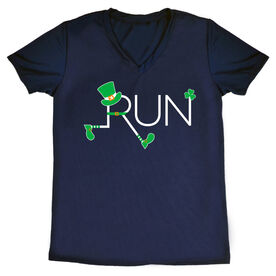 Women's Running Short Sleeve Tech Tee - Let's Run Lucky