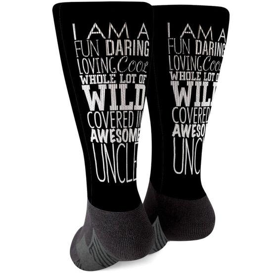 Printed Mid-Calf Socks - That's My Uncle