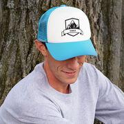 Running Trucker Hat Run Wild Badge With Distances Male Silhouette