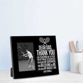 Tennis Photo Frame - Dear Dad