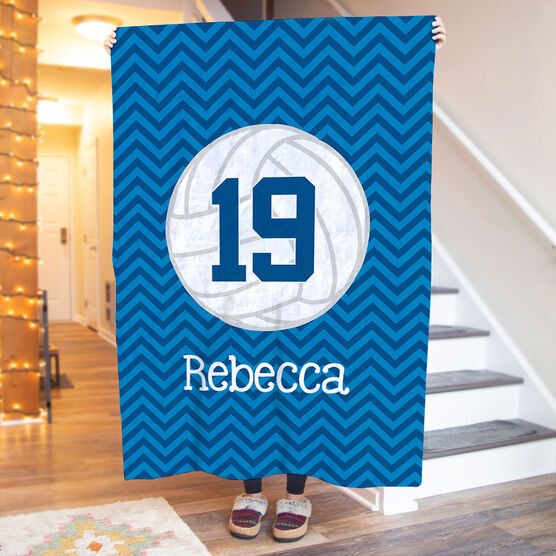 Volleyball Premium Blanket - Personalized with Chevron
