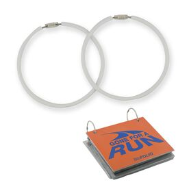 "BibFOLIO® Race Bib Album Expansion Rings (3"" White Rings) - Set of 2"