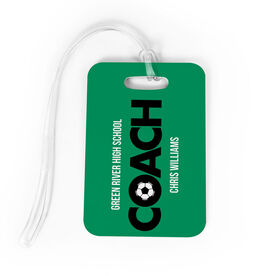Soccer Bag/Luggage Tag - Personalized Coach