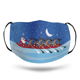 Crew Face Mask - Reindeer and Santa