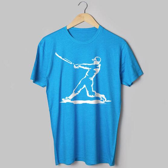 Baseball Tshirt Short Sleeve Baseball Player