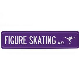 "Figure Skating Aluminum Room Sign - Figure Skating Way (4""x18"")"