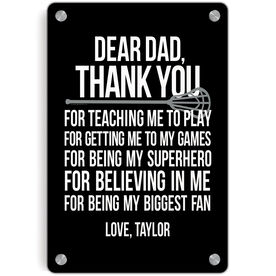 Lacrosse Metal Wall Art Panel - Personalized Dear Dad Lacrosse