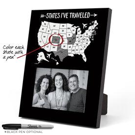 Personalized Photo Frame - States I've Traveled