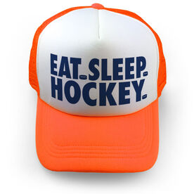 Hockey Trucker Hat - Eat Sleep Hockey