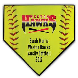 Softball Your Logo Home Plate Plaque