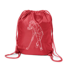 Field Hockey Sport Pack Cinch Sack - Field Hockey Player Sketch
