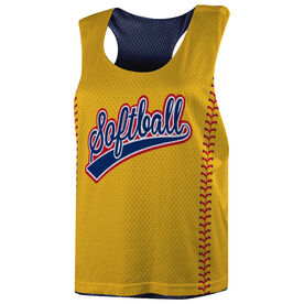Softball Racerback Pinnie - Softball Word
