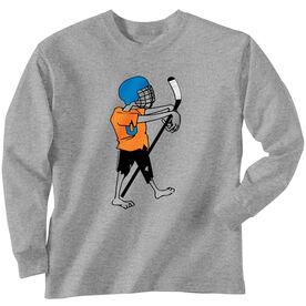 Hockey Tshirt Long Sleeve Hockey Zombie