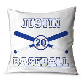 Baseball Throw Pillow Personalized Baseball Bats And Ball