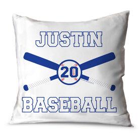 Baseball Throw Pillow Personalized Baseball Bats And Ball