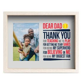 Softball Premier Frame - Dear Dad