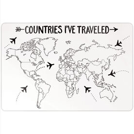 "Personalized 18"" X 12"" Aluminum Room Sign - Countries I've Traveled Outline"