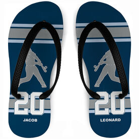 Baseball Flip Flops Personalized Batter