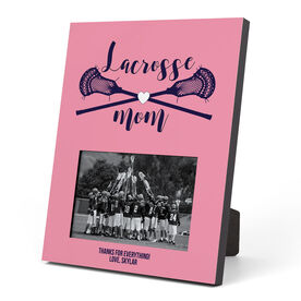 Guys Lacrosse Photo Frame - Lacrosse Mom With Crossed Sticks